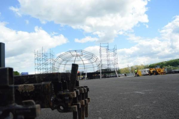 Evolution Festival stage set up