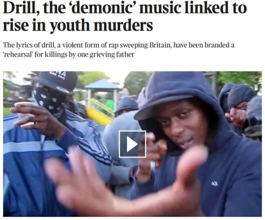 UK DRILL MUSIC ARTICLE THE TIMES