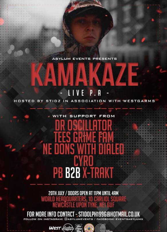 Kamakaze @ World Headquarters Newcastle